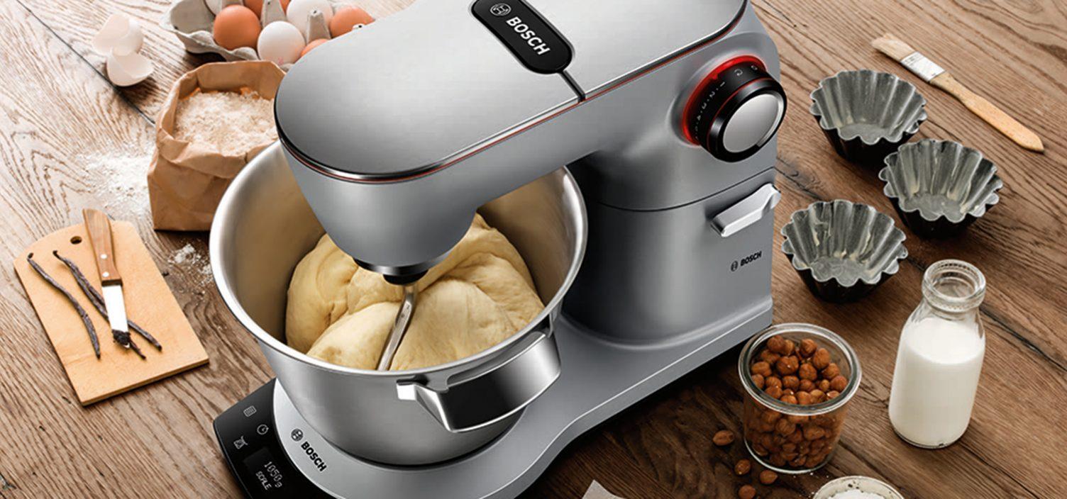 Weihnachtsstollen Teig Zubereitung mit der Bosch OptiMUM