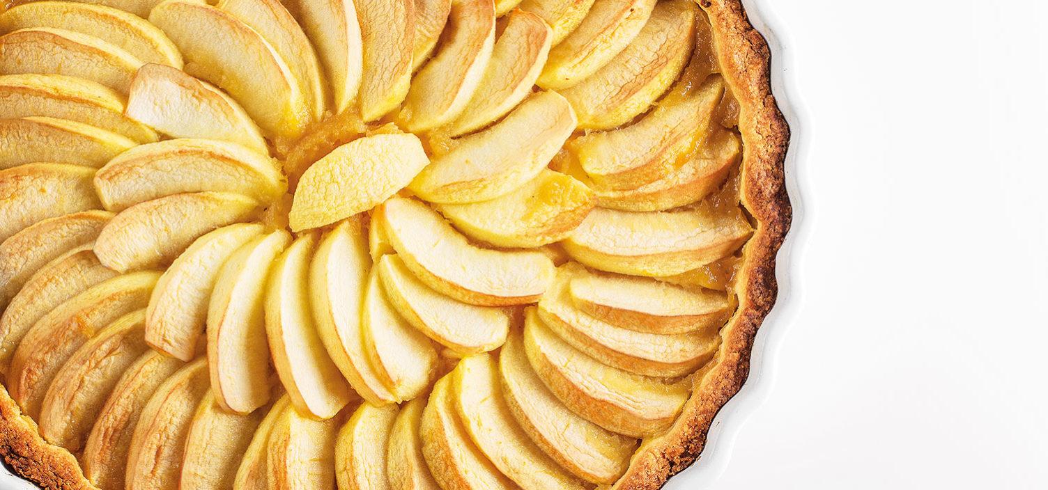 Nahaufnahme von einer Apfel Tarte