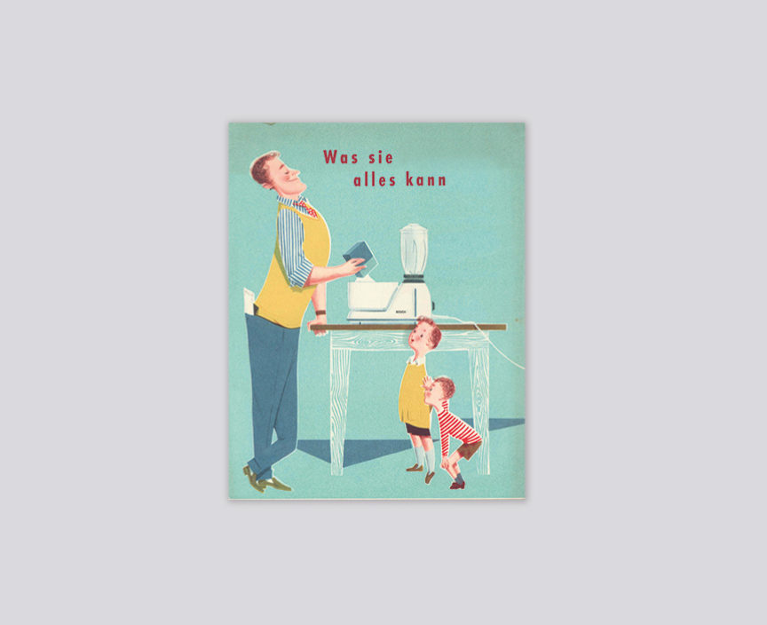 Nostalgie Plakat über Küchenmaschinen